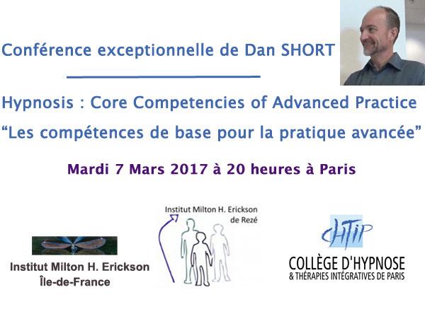 Dan SHORT en conférence exceptionnelle le 7 mars à Paris