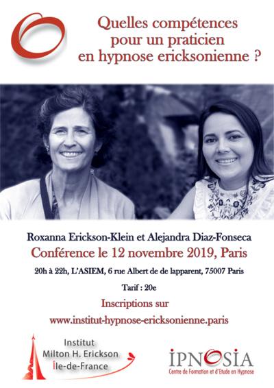 Conférence 12 novembre 2019 Paris, Roxanna Erickson-Klein et Alejandra Diaz-Fonseca